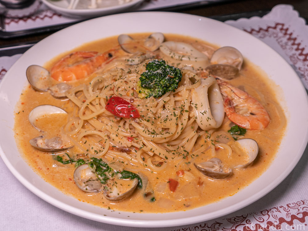 九食圓 茄汁海鮮義大利麵