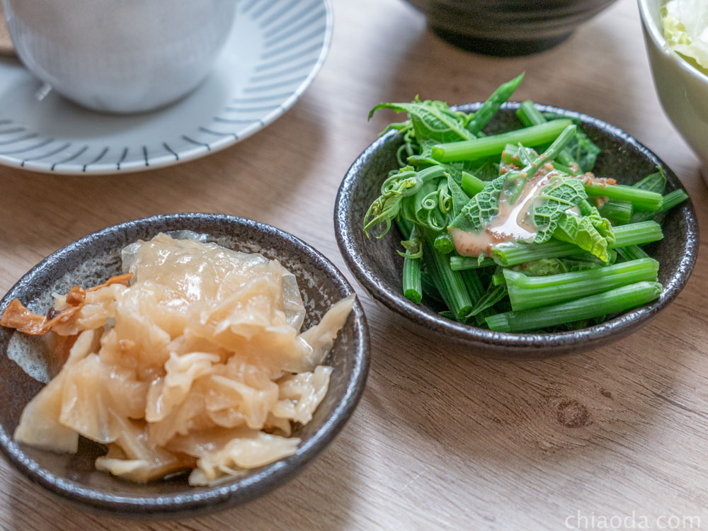 楓上屋 定食配菜
