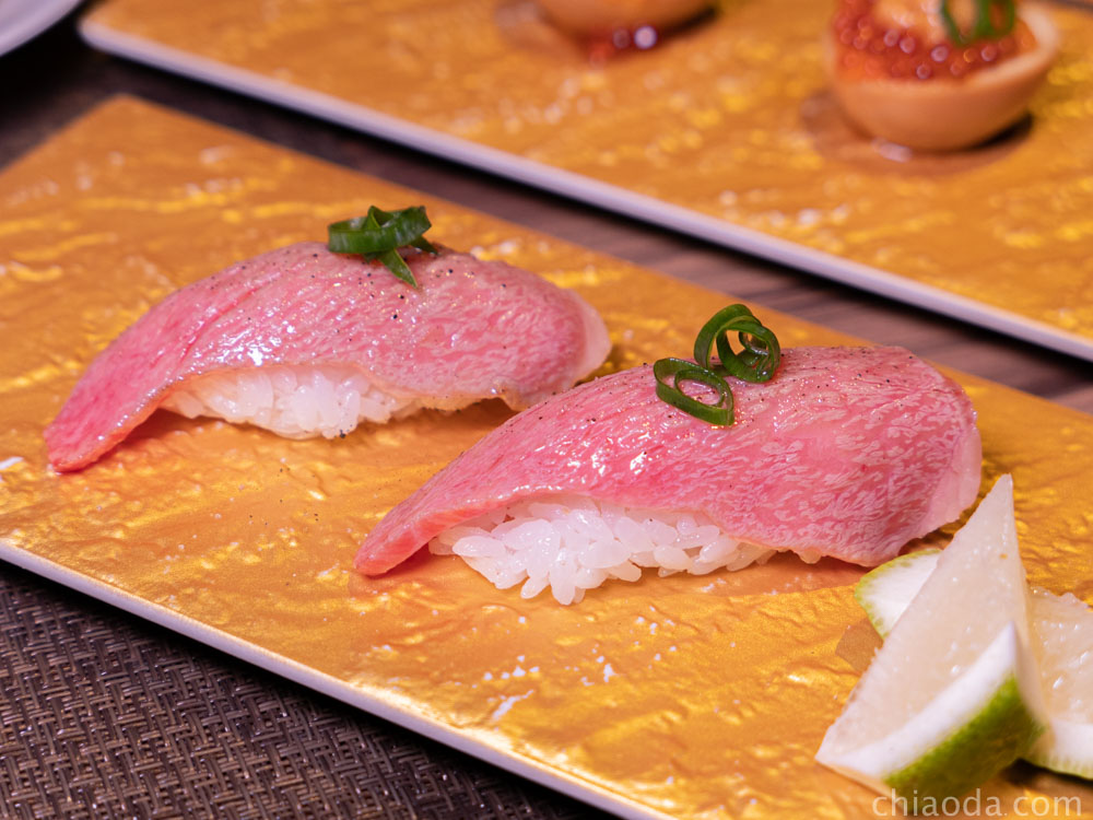 金川kanekawa 新鮮炙燒霜降和牛握壽司