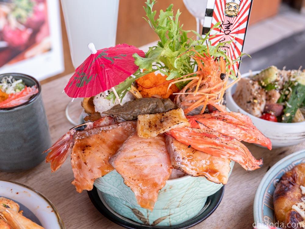 信兵衛【海鮮炙燒丼丼 $380】