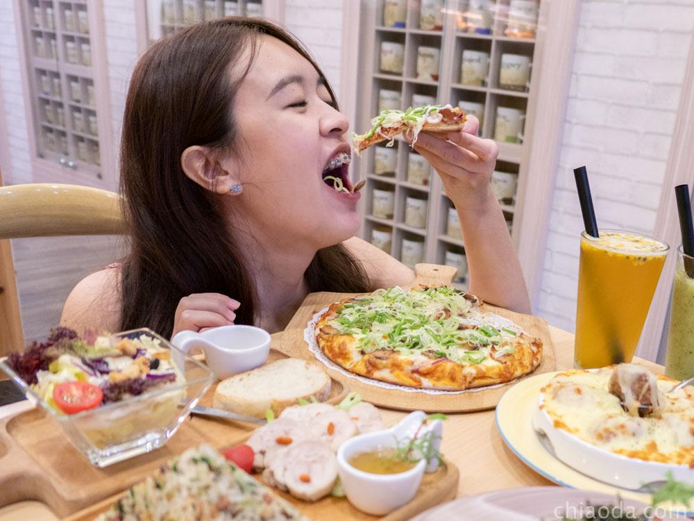 花雨森林 蒜苗鹹豬肉披薩