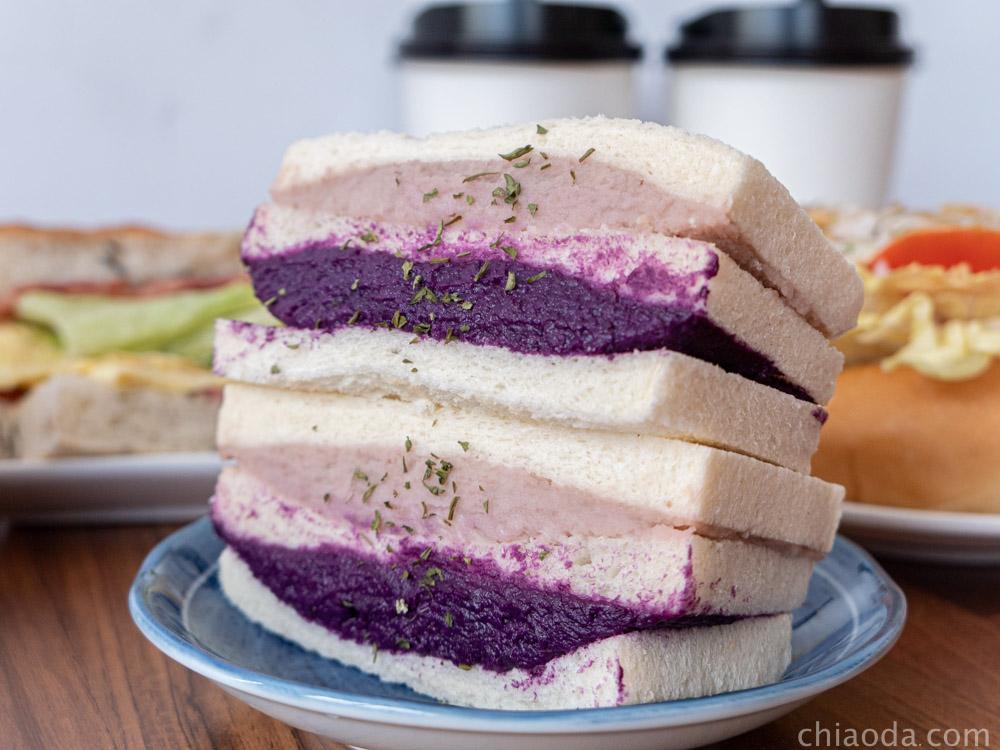告胖豐原 紫芋滿泥三明治