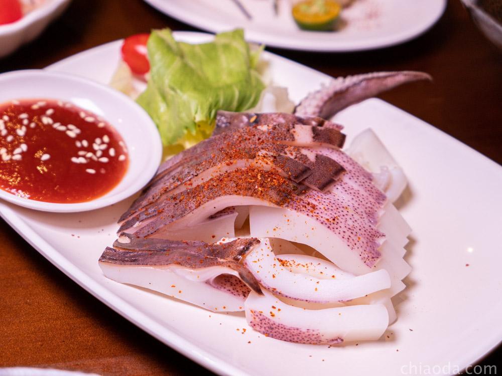泉香平價日式料理 厚切五味軟絲