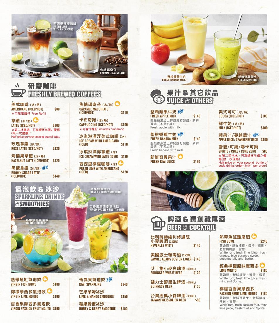 Burger Joint 7分SO 2020菜單