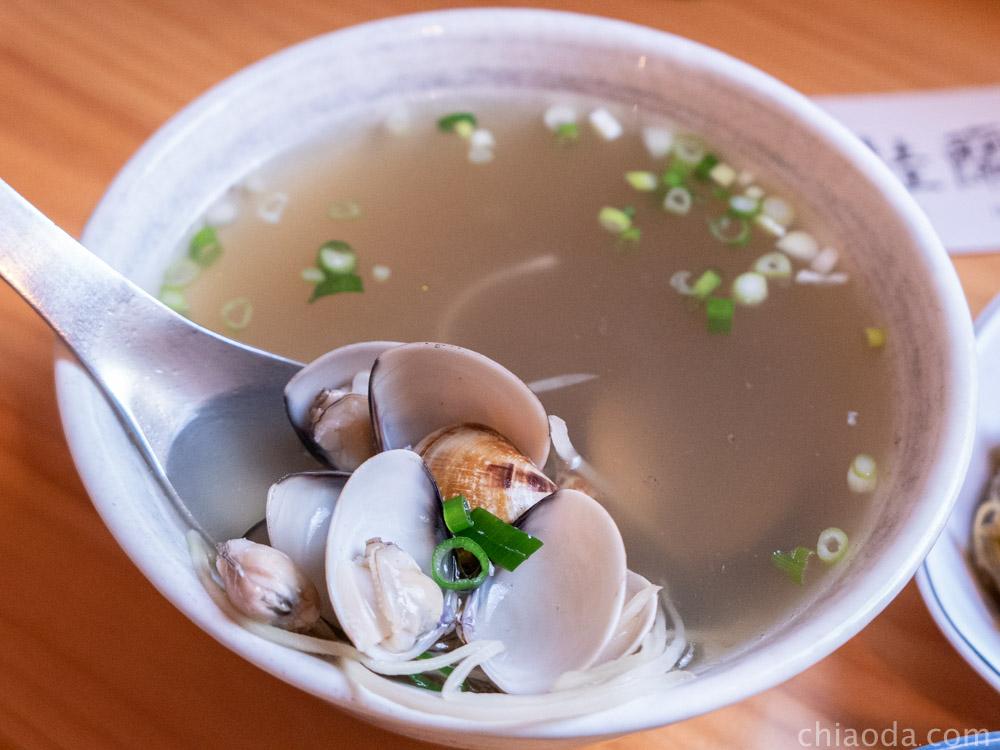 桂蘭麵 蛤蜊湯