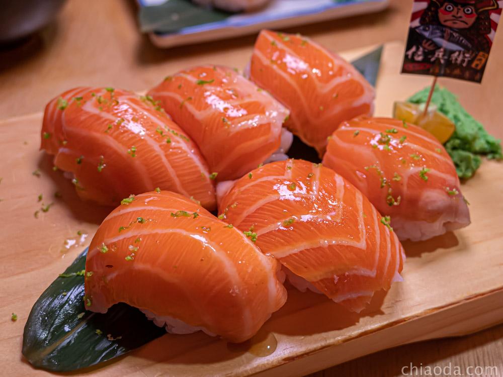 信兵衛 大勇町二代目 鮭鮭魚握握