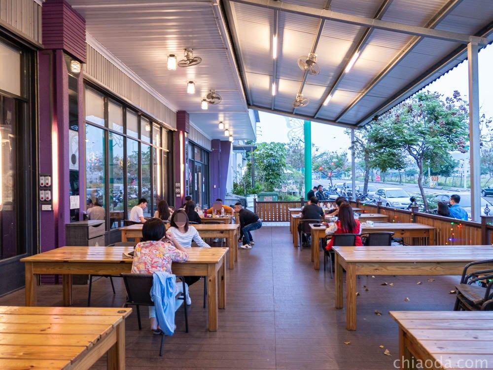 茶自點台中旗艦店戶外用餐區 北屯餐廳推薦 大坑美食