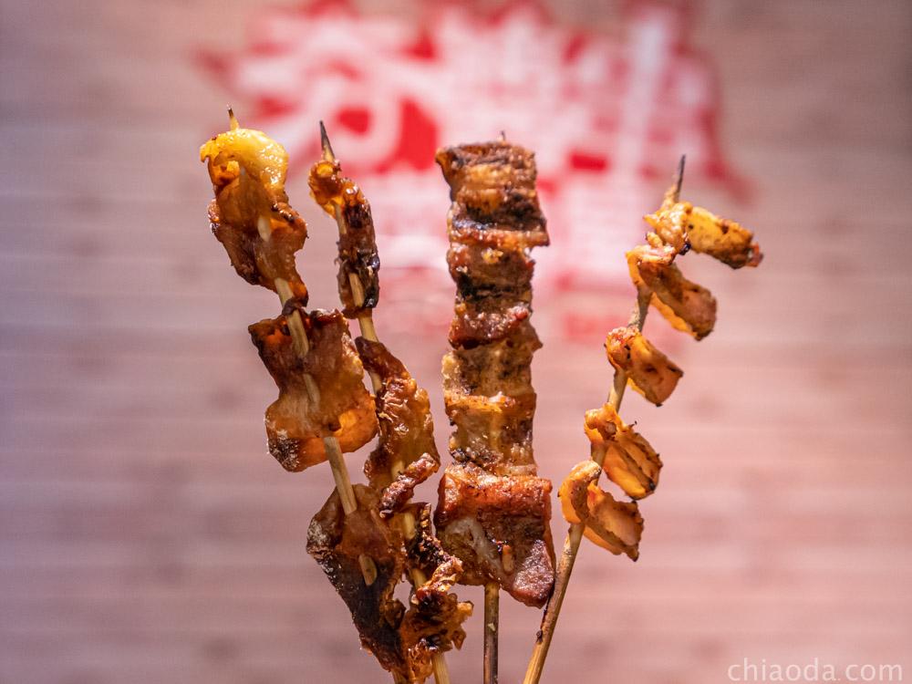 夯醬串 烤雞皮