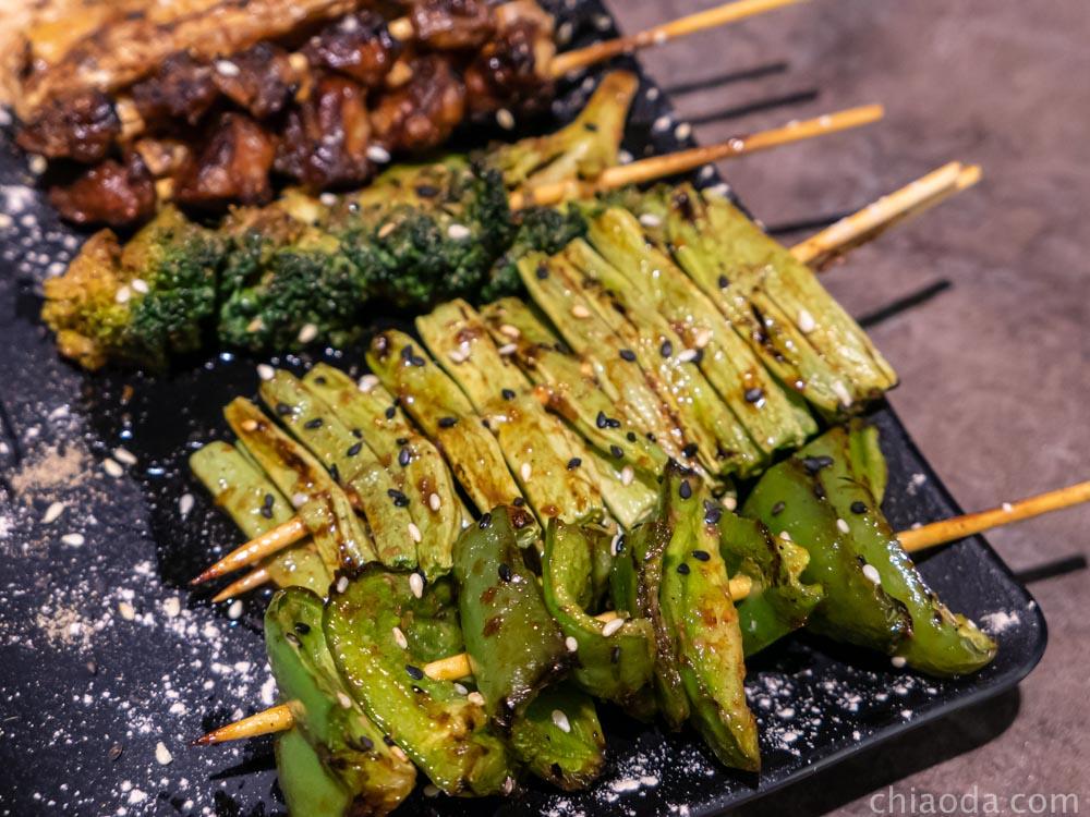 夯醬串 炭烤青菜