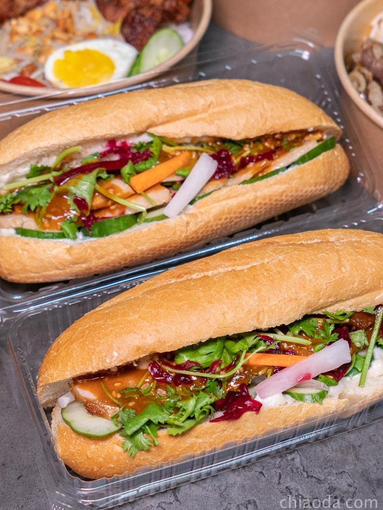 越好吃越式餐盒 法國麵包外帶