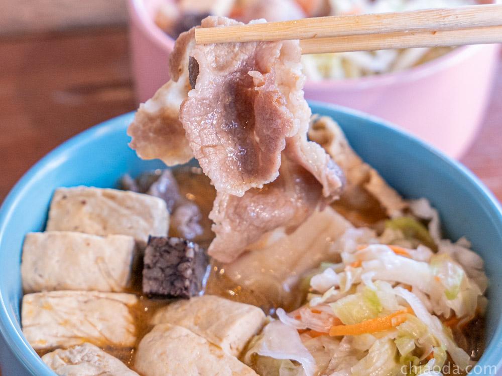 臭呷燒 清蒸臭豆腐 豬肉片