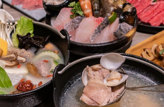 論石間鍋物 中科商圈火鍋推薦 蔬菜自助吧任挑任選 激推石鍋湯底和蒜頭蛤蜊雞鍋!
