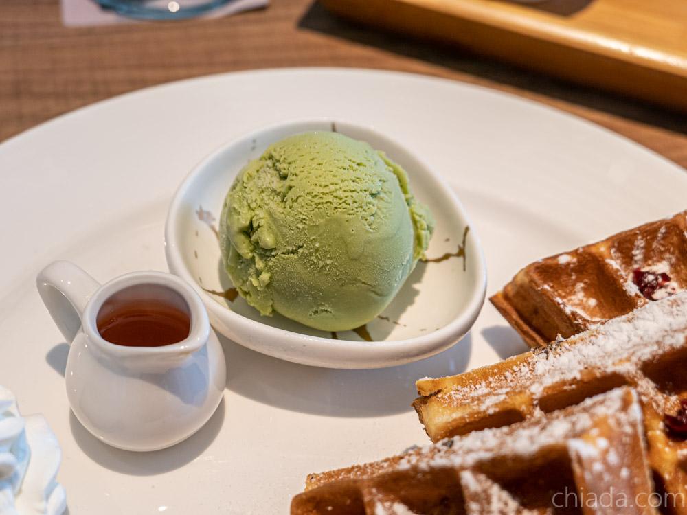 舞鶴昭日-抹茶冰淇淋鬆餅