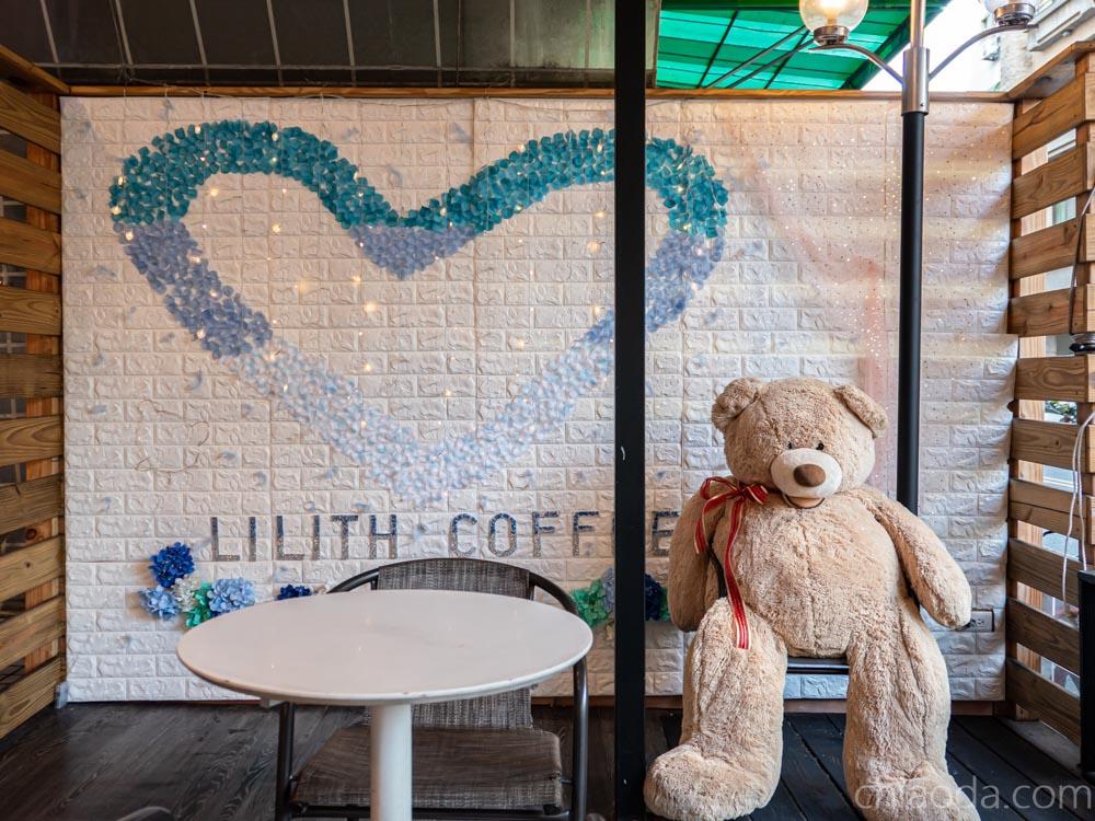 莉莉絲咖啡 網美牆 內用開放空間