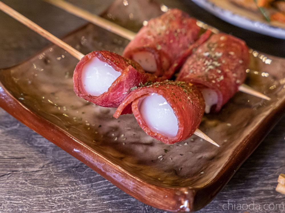 食久津居酒屋 培根吉士麻糬串 台中中科商圈串燒