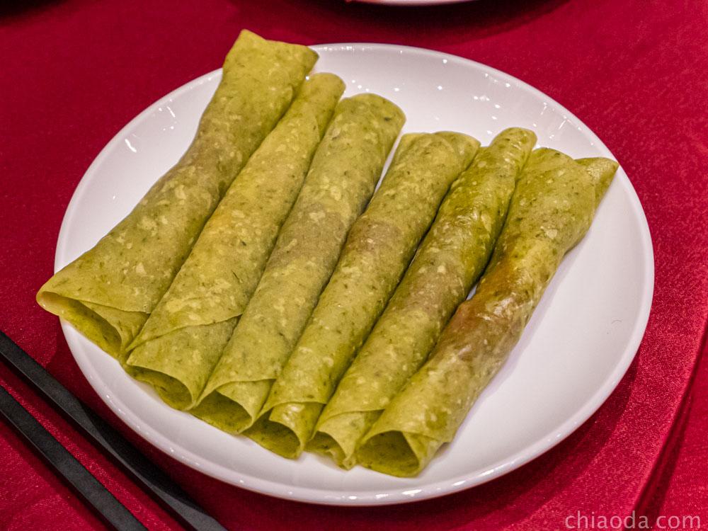 蘭城晶英烤鴨五吃 片皮鴨捲三星蔥餅