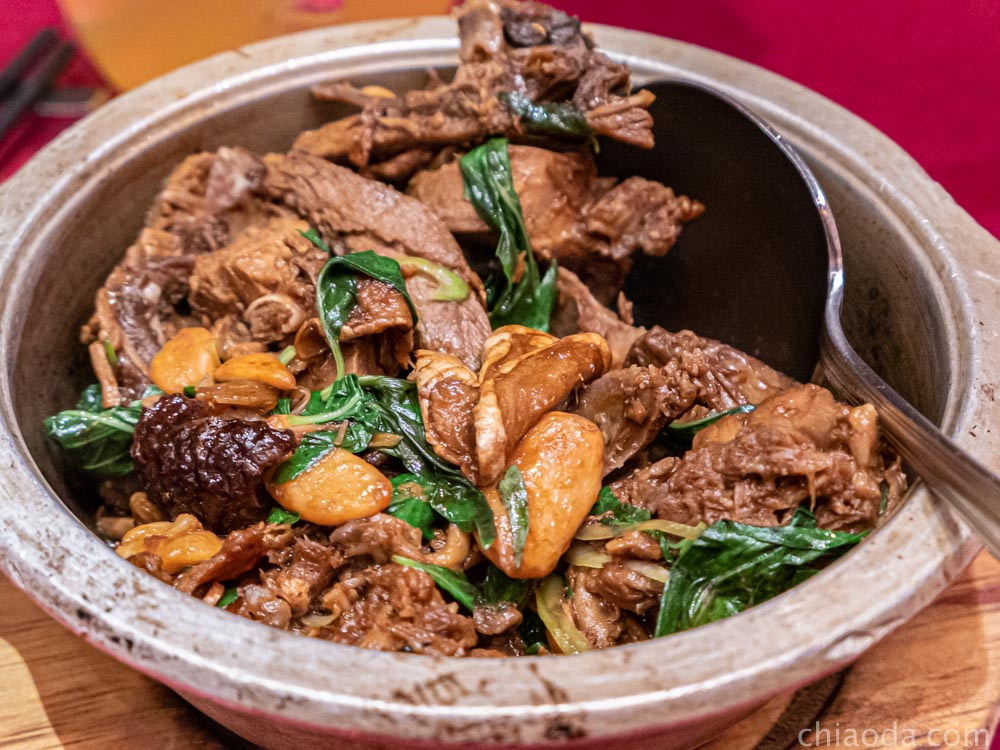 蘭城晶英烤鴨五吃 三杯鴨骨煲