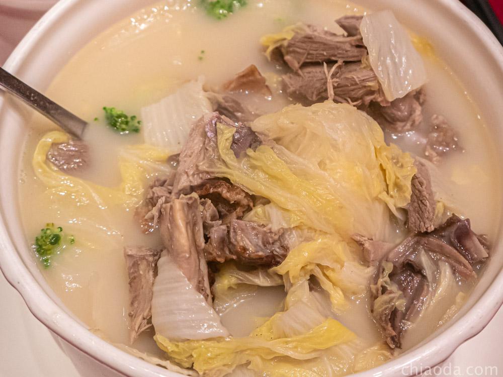 蘭城晶英烤鴨五吃 慢火白菜煲湯