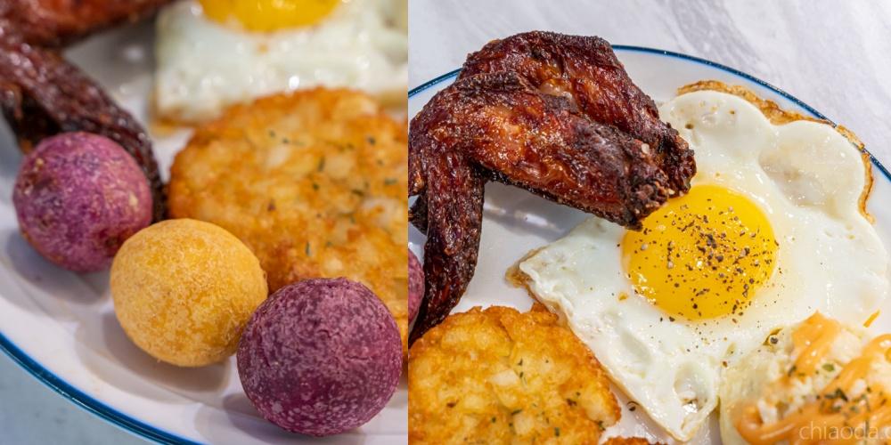 找餐店文心店 早午餐 地瓜球 炸雞翅 台中早午餐宵夜