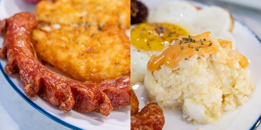 找餐店文心店 早午餐 薯泥 德國香腸