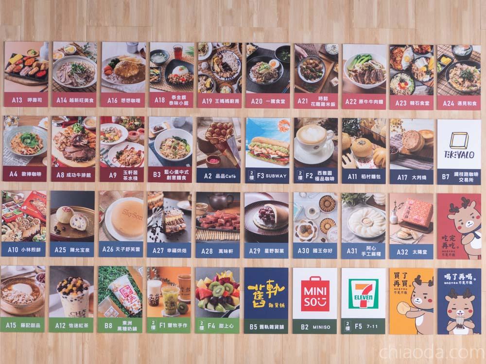 台中火車站美食街 鐵鹿大街 所有餐廳店家