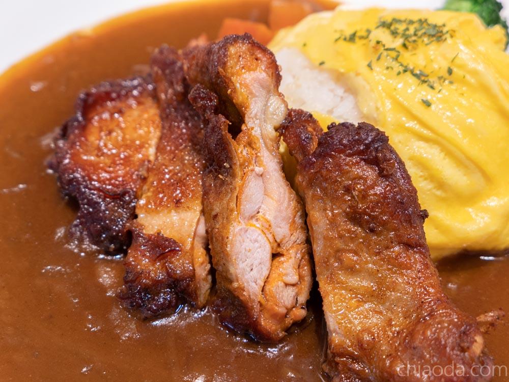 台中火車站鐵鹿大街 想想咖哩 紐澳良雞腿歐姆蛋咖哩飯