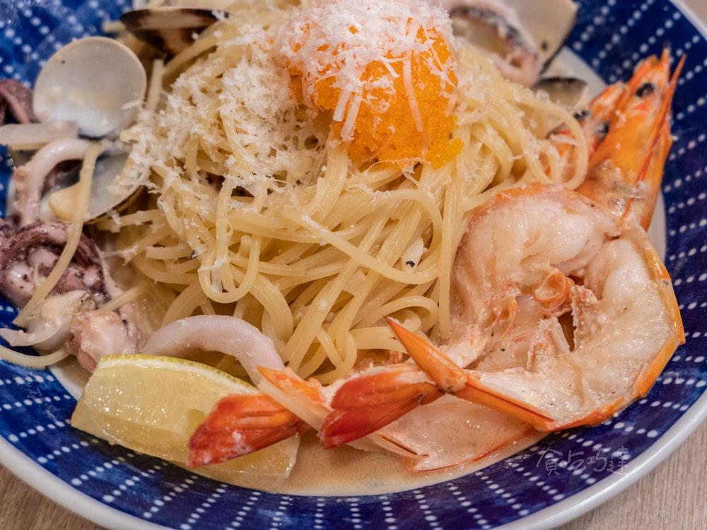 woosa屋莎鬆餅 海膽明太子海鮮義大利麵 台中西屯義式餐廳