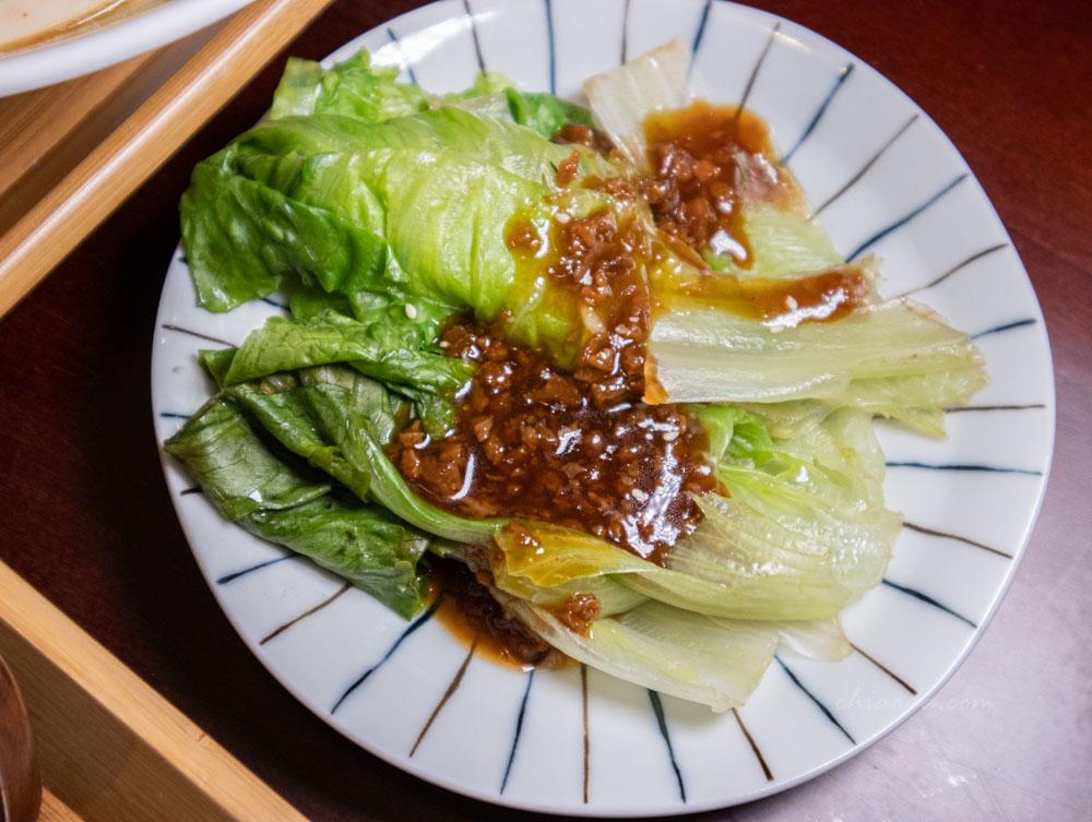 滝禾製麵所 北屯旅順店 燙青菜