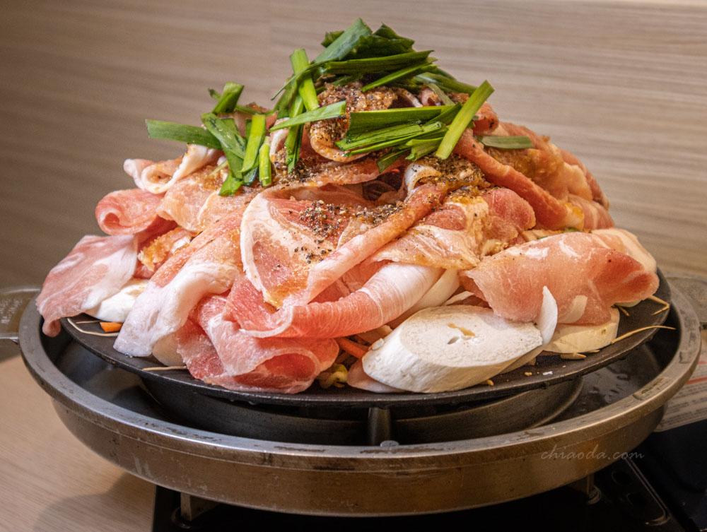 kim daddy 豆芽生薑豬肉雙人套餐 台中韓式鐵板鍋