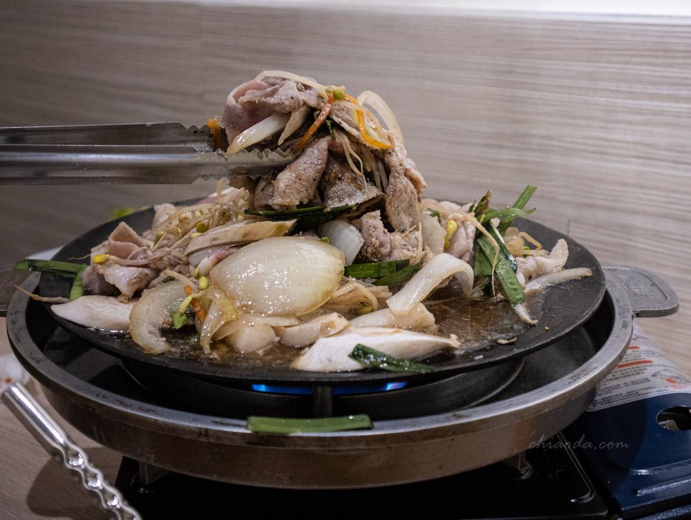 kim daddy 豆芽生薑豬肉雙人套餐 台中韓式料理