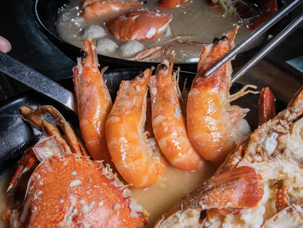 江湖客棧海鮮粥 白蝦