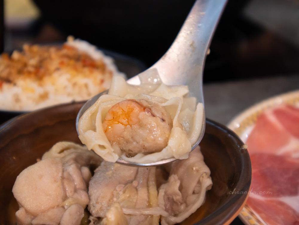 銄鍋 菜盤 鮮蝦雲吞