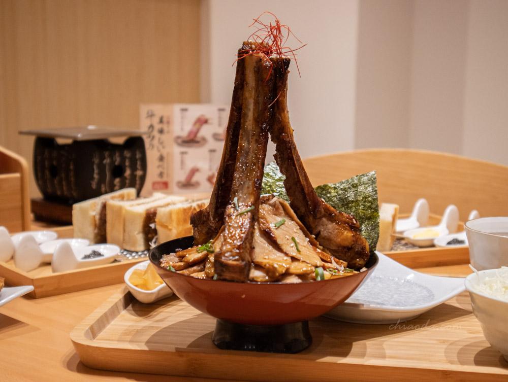 嵐山炸牛排 神樣戰斧豬排丼飯定食 台中日式料理推薦