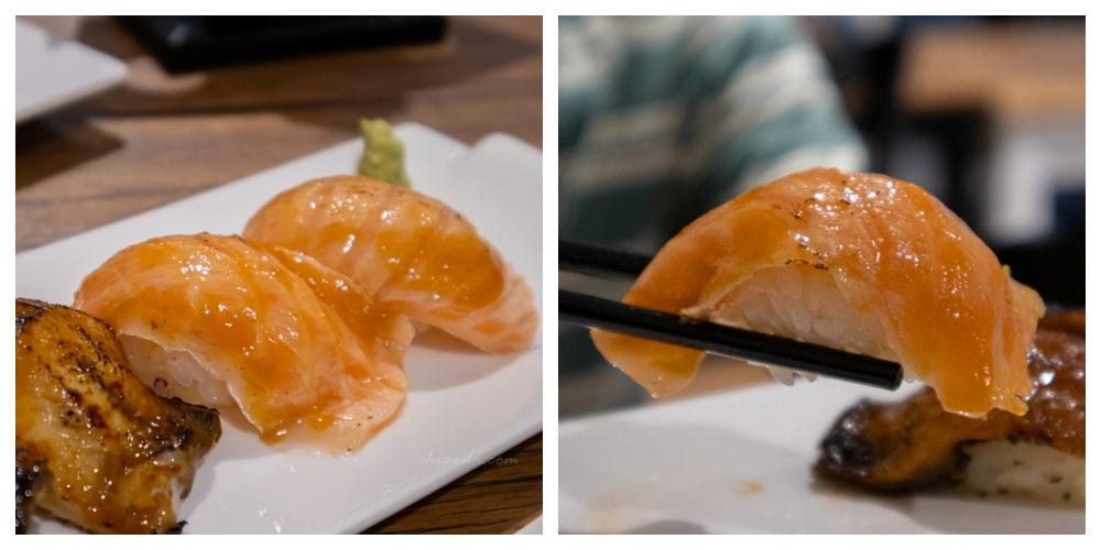 安曇野食卓 鮭魚腹握壽司 台中壽司推薦