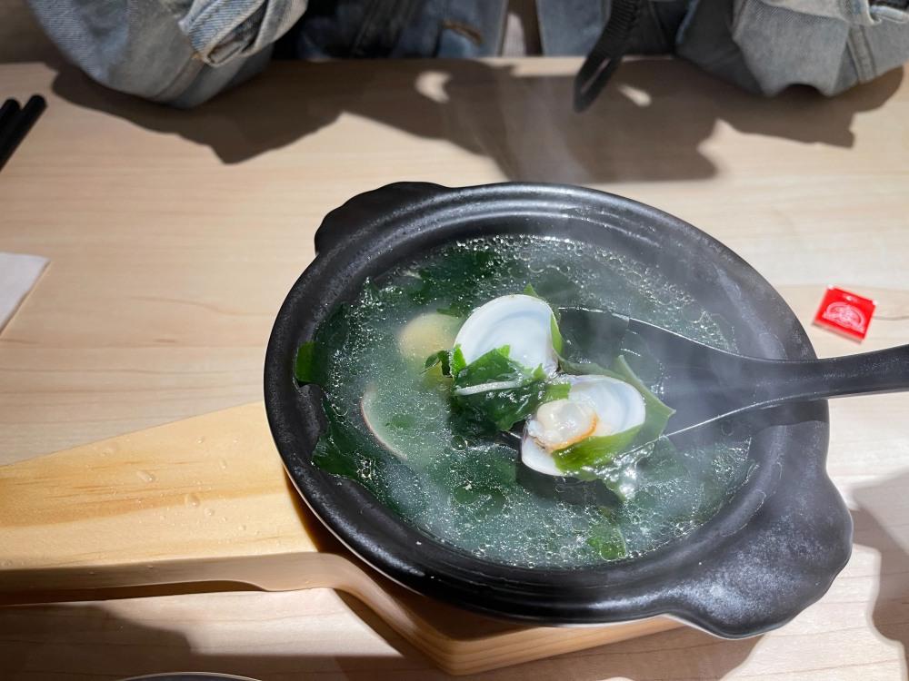 花一番附湯 海帶蛤蜊湯