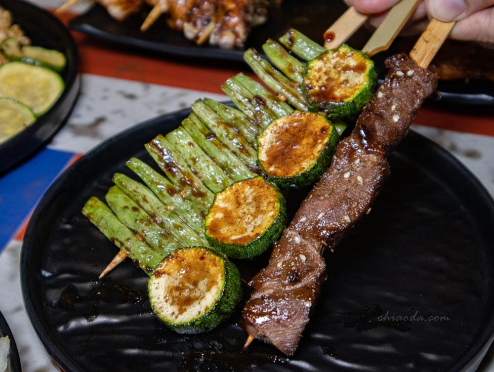 燒吉霸 牛肉串櫛瓜四季豆串燒