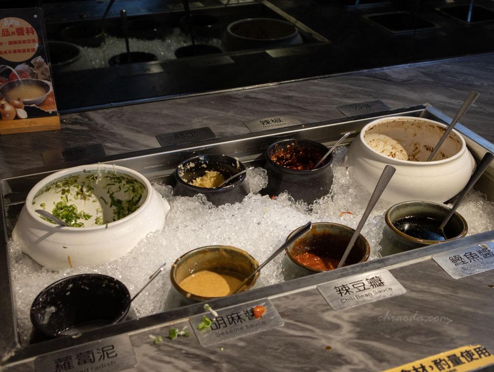 五鮮級鍋物和美店 醬料區
