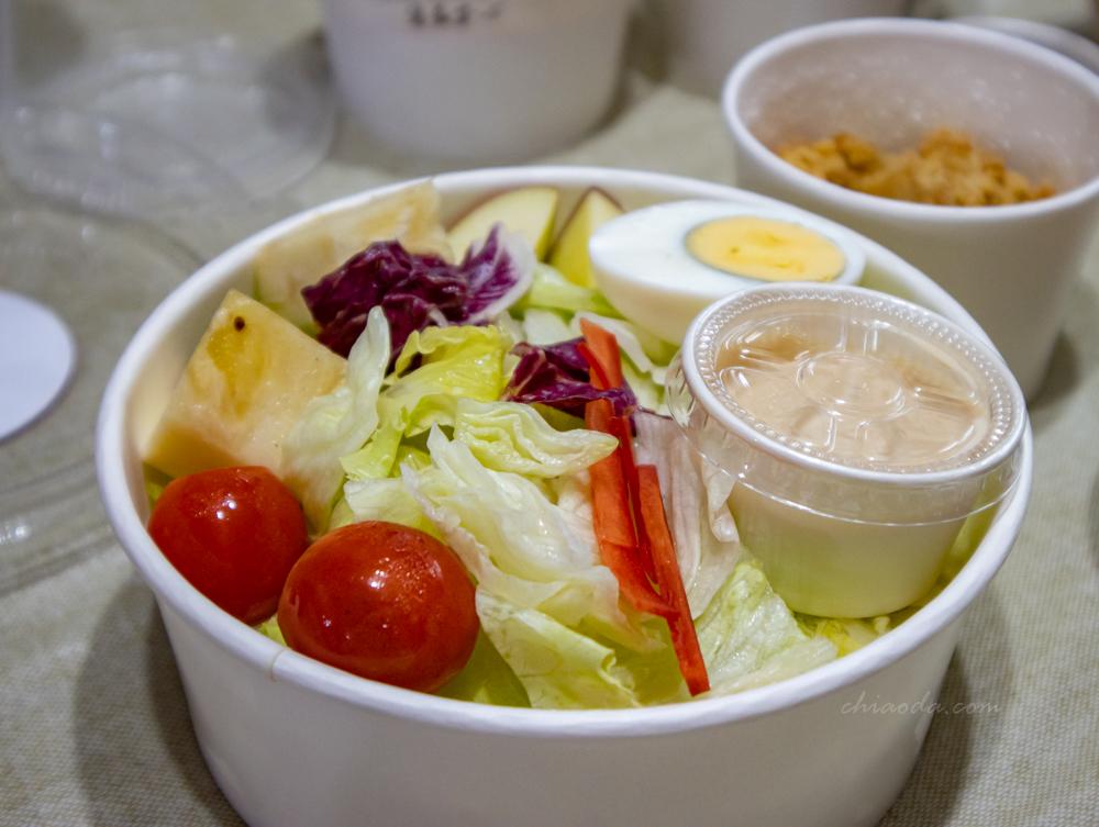 西堤外帶 凱薩雞米花鮮蔬沙拉