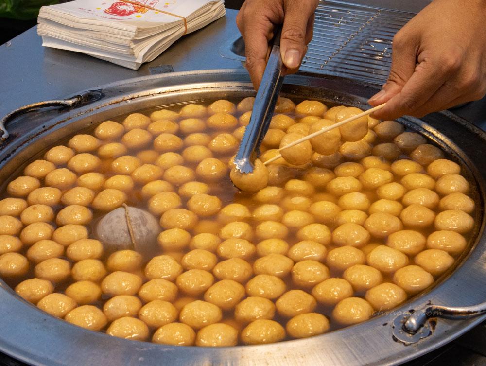 辣騷魚蛋 原味魚蛋 總站夜市魚蛋