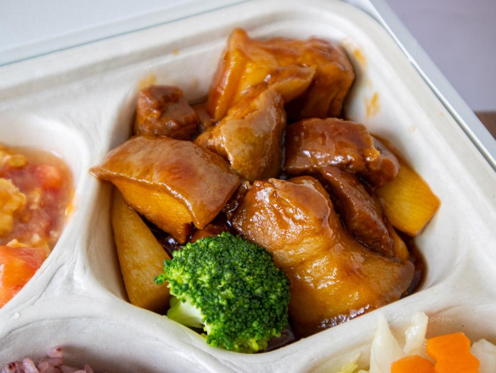 台中福華大飯店外帶 上海紅燒肉餐盒