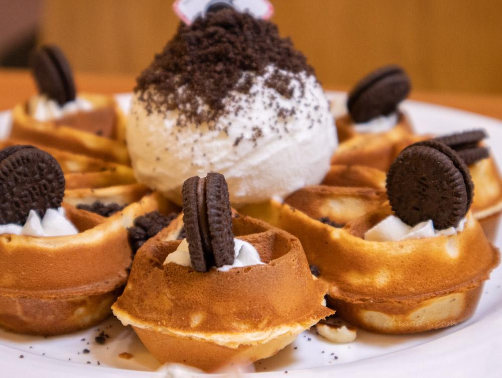 小鍋甜點咖啡 Oreo冰淇淋鬆餅
