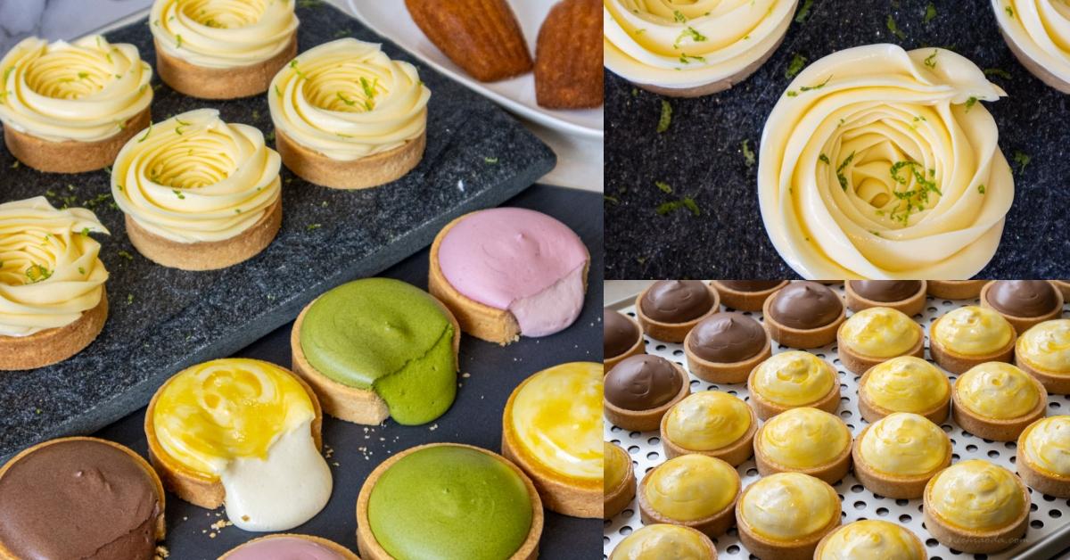 吻鑽糖|台南國華街甜點伴手禮推薦!超夯的爆漿乳酪塔和玫瑰檸檬塔,生意超好人潮不斷!