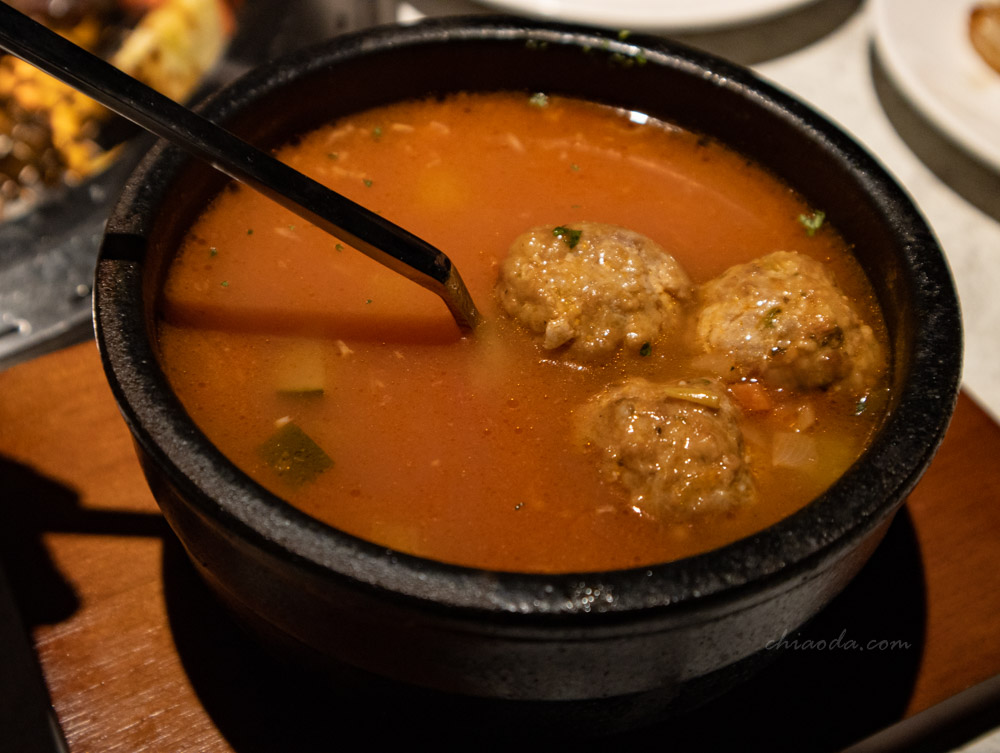 燒肉風間 自家產豬肉丸子湯