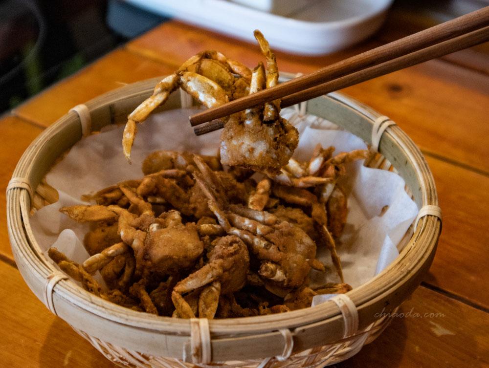 金禾食堂 炸一口唐揚蟹