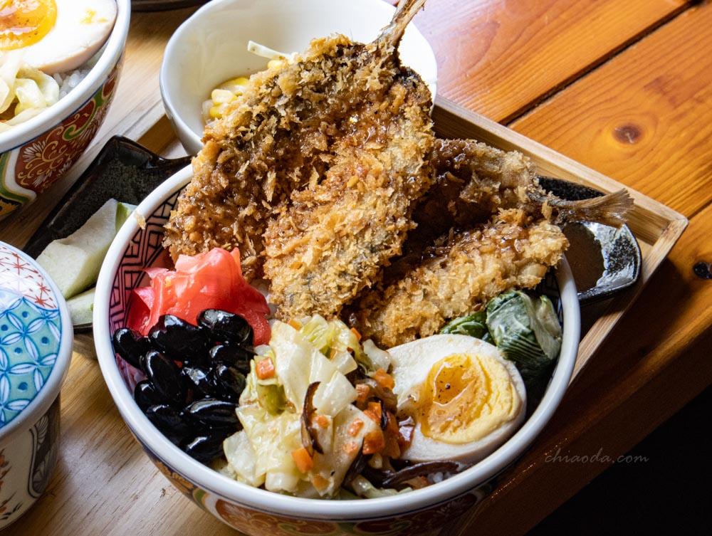 金禾食堂 日本酥炸竹筴魚定食