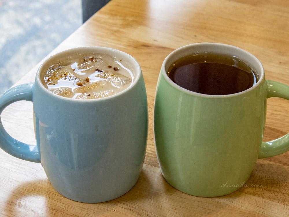柒早日式早午餐 黑糖鮮奶 煎茶