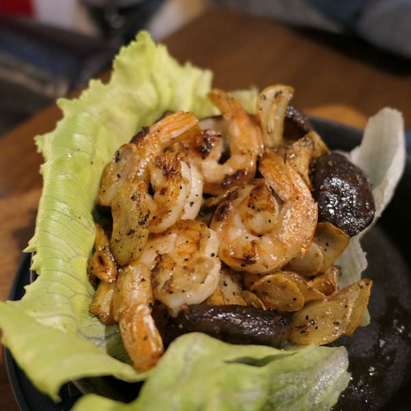 7分so野菌炒鮮蝦
